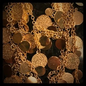 Gold Circle Necklace & Earrings